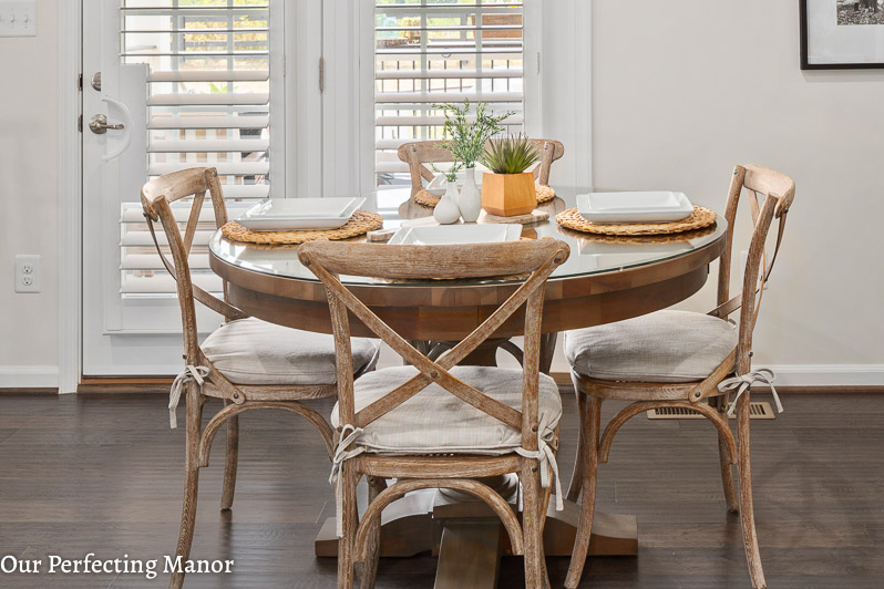Our Home Our Bistro Style Eat In Kitchen Our Perfecting Manor