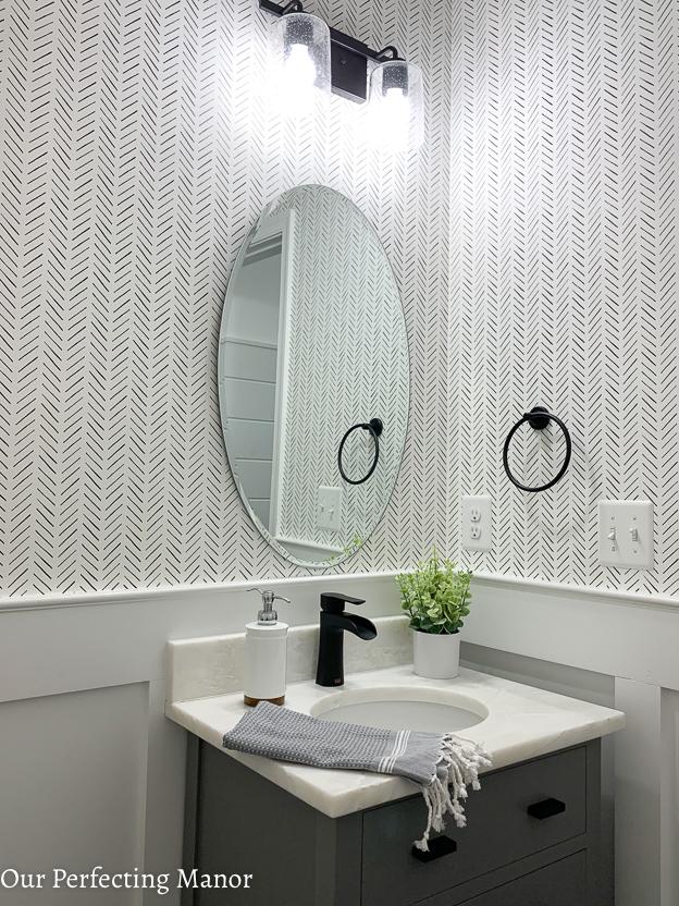 Powder Room Refresh Modern Farmhouse Our Perfecting Manor